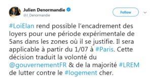 Réaction de Julien Denormandie sur Twitter