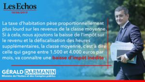 Citation d'un déclaration de Gérald Darmanin